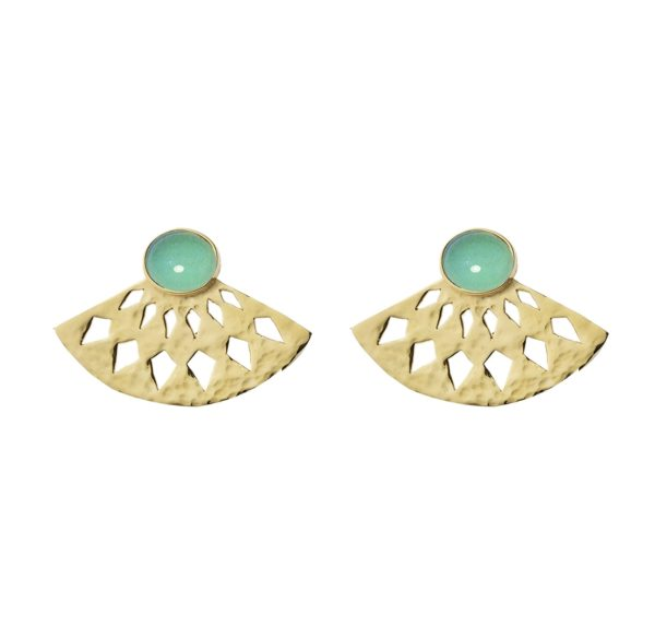 Li Jewels Fan Abanico turquesa pendientes 600x584 - Fan earrings