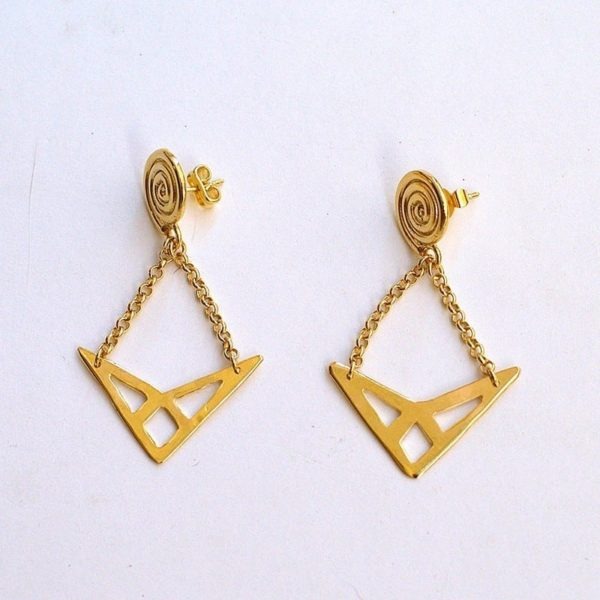 Pendientes Triángulo - Li Jewels - Pendientes Artesanales
