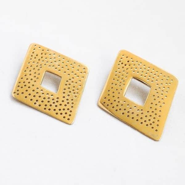 Pendientes Rombos - Pendientes Artesales - Li Jewels - Joyas de Diseño