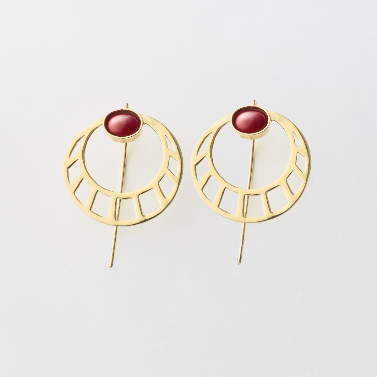 pendientes 005 lijewels - Egyptian Round Earrings