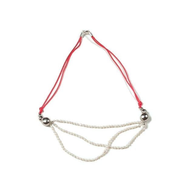 Collar Spheres con perlas