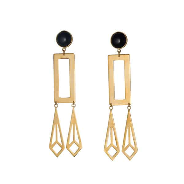 D earrings oversized onyx 600x600 - Is a diamond worthy? Oversized Earrings
