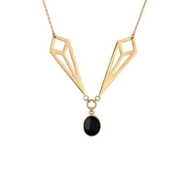 D necklace onyx 600x600 - Is a diamond worthy? Necklace