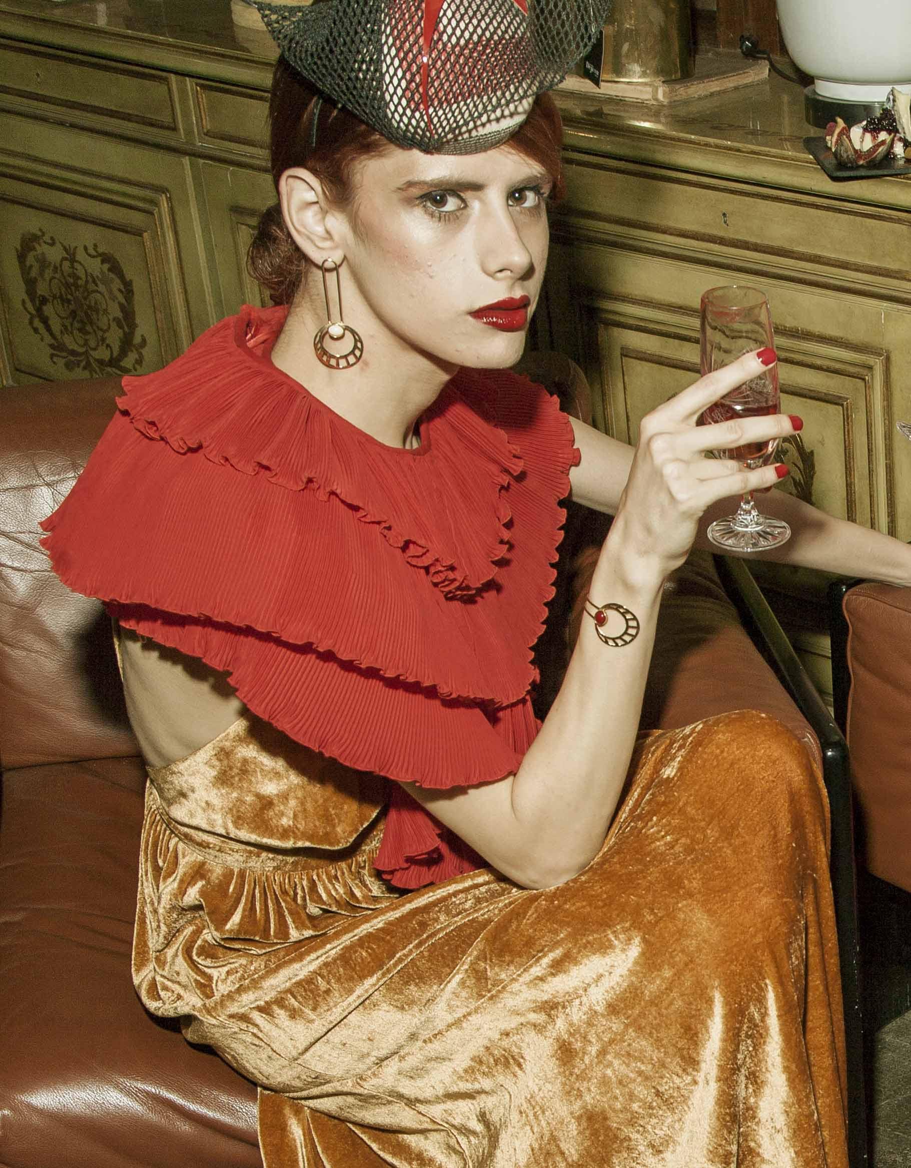 Egyptian Sun Earrings at Elegant magazine 1 - Egyptian Sun Bracelet