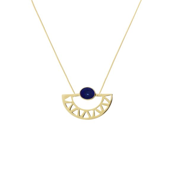 Li Jewels egipcian moon azul marino colgante 600x600 - Egyptian Moon Necklace