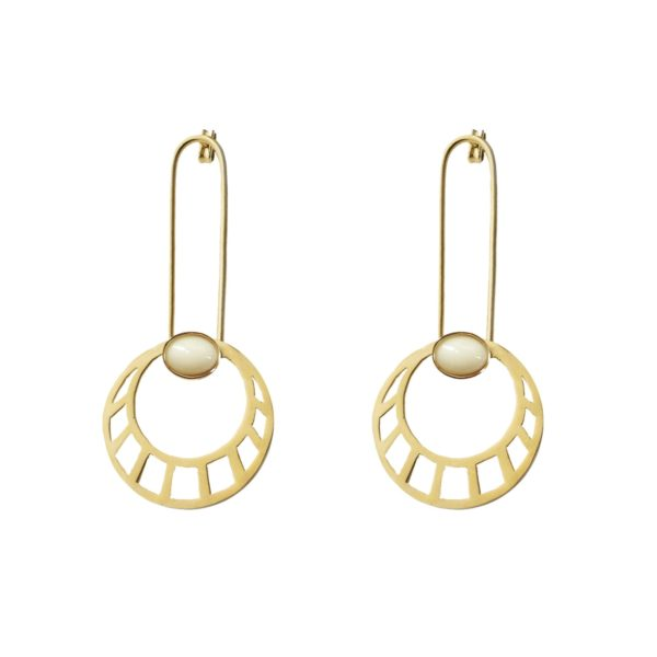Li Jewels egipcian sun marfil pendientes 600x600 - Egyptian Sun Earrings