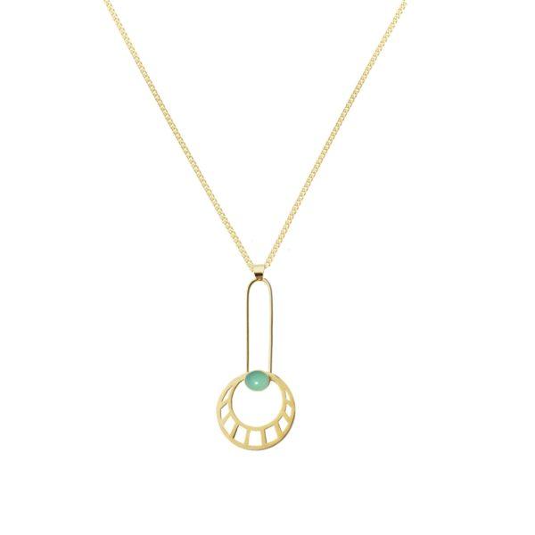 Li Jewels egipcian sun turquesa colgante 600x600 - Egyptian Sun Necklace