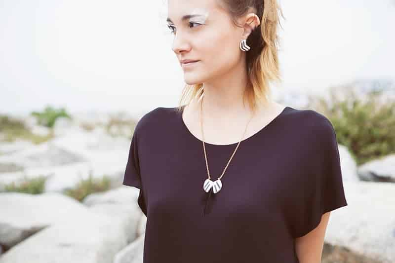 Eclipse feather collection by Li jewels 2 - Colgante Eclipse fether