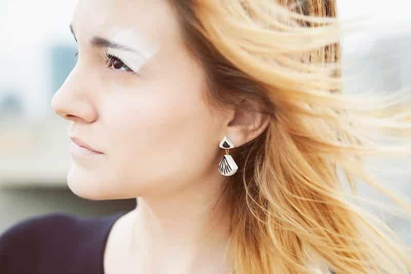 Eclipse stripes earrings by Li Jewels - Pendientes Eclipse stripes
