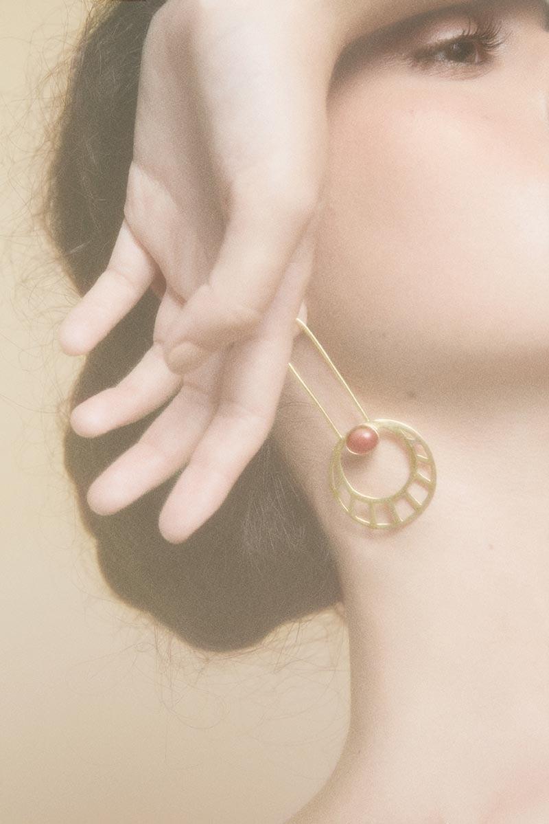 Egyptian Sun earrings by Li jewels - Pendientes Egyptian Sun