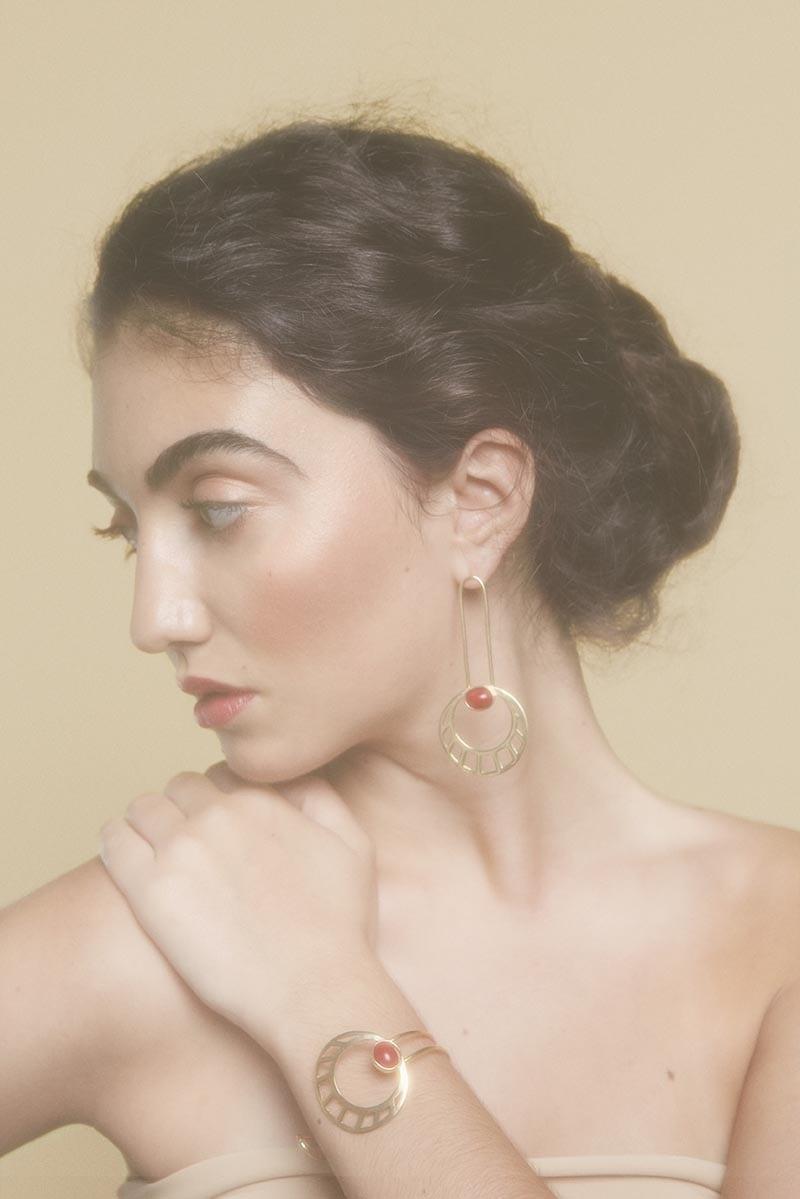 Li Jewels Egyptian Sun Earrings and Barcelet - Egyptian Sun Bracelet