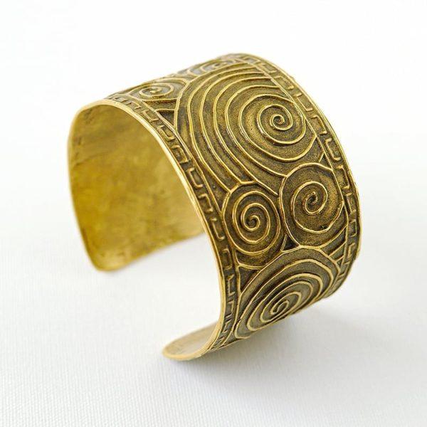 Li Jewels Aztec Bracelet Artisan organic jewelry 600x600 - Brazalete Azteca